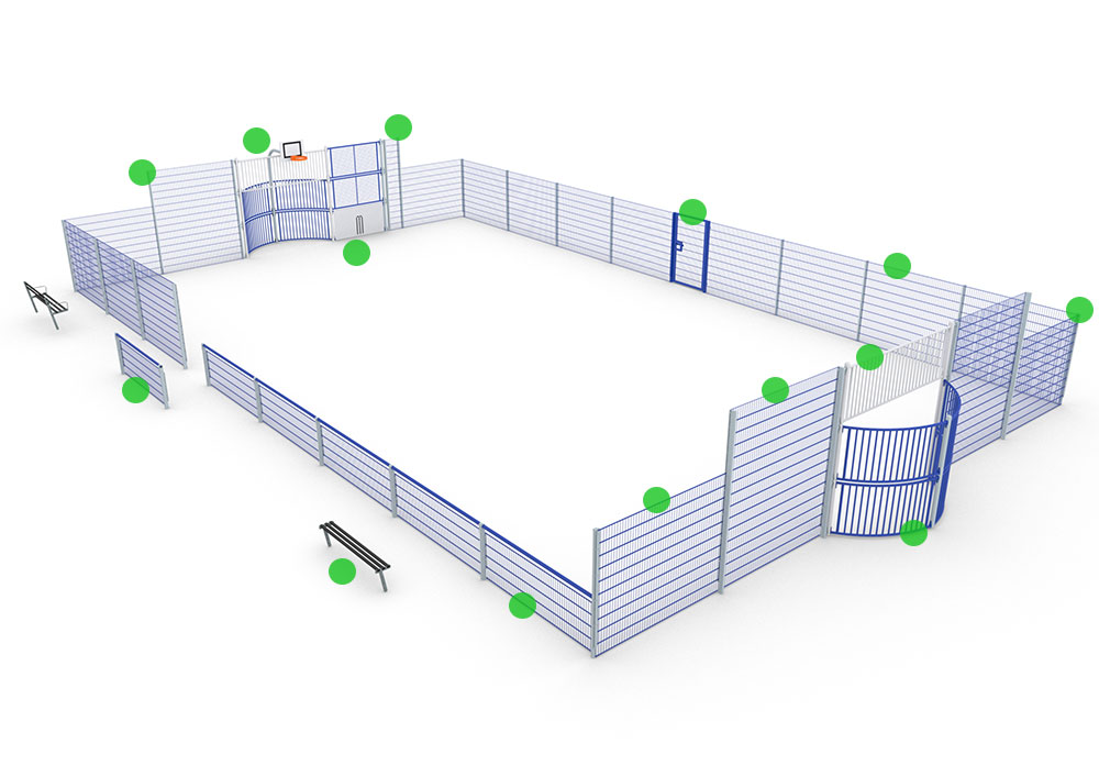 How to customise ARENA Lite multi-use games area