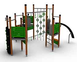 Timber and HPL multi-play unit